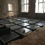 zdjęcia remontowanych pomieszczeń pałacu